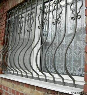 Muster Fenstergitter - Firmengelände Andreas König TOR-METALL